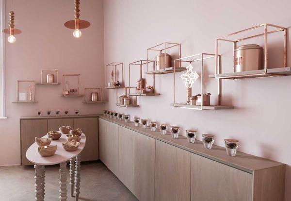 Pareti Rosa Antico : Pareti rosa antico in una casa da tè mozzafiato elle decor