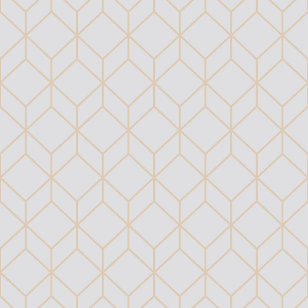 Graham Brown Myrtle Geo Grey And Rose Gold Removable Wallpaper