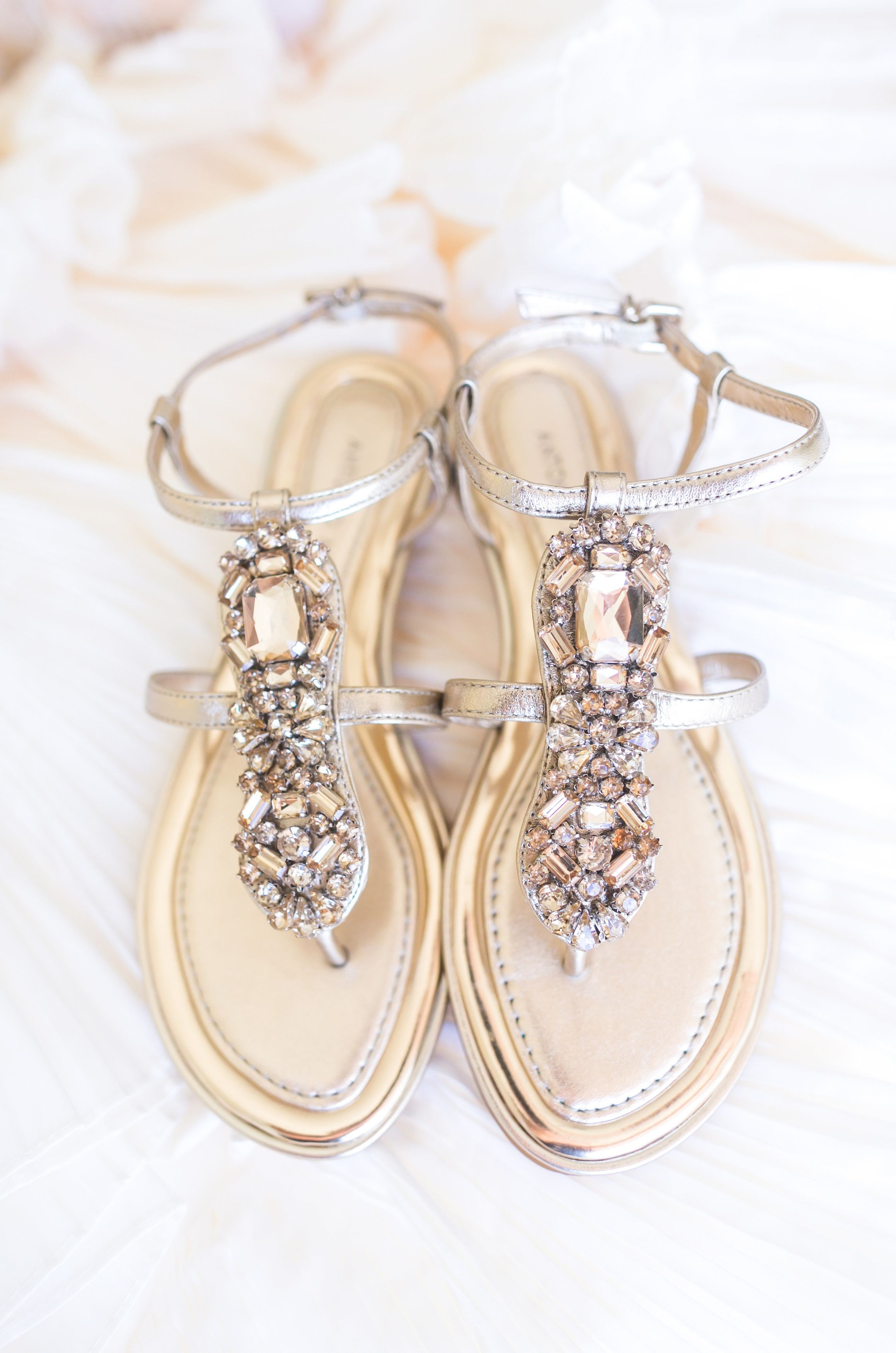 Gold + Blush Hilton Head Island Wedding Flat sandals
