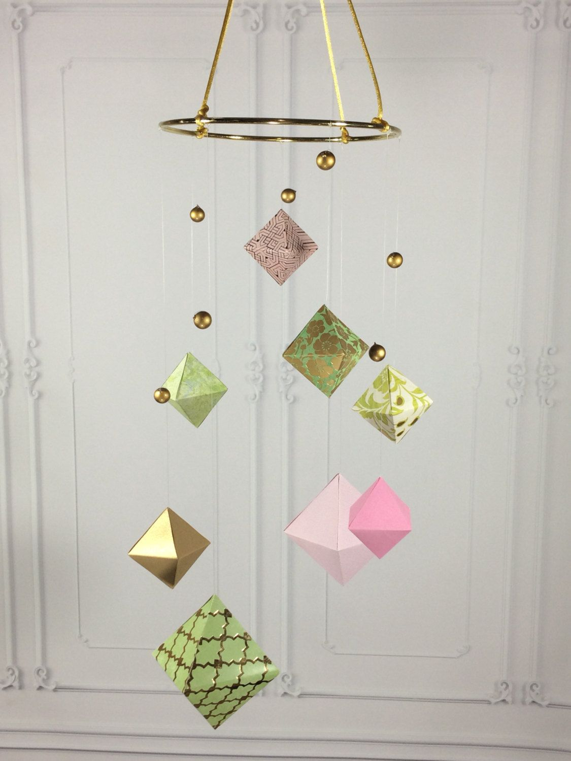 mid century mobile  geometric baby mobile  baby mobile for girls  - mid century mobile  geometric baby mobile  baby mobile for girls  modernpaper mobile