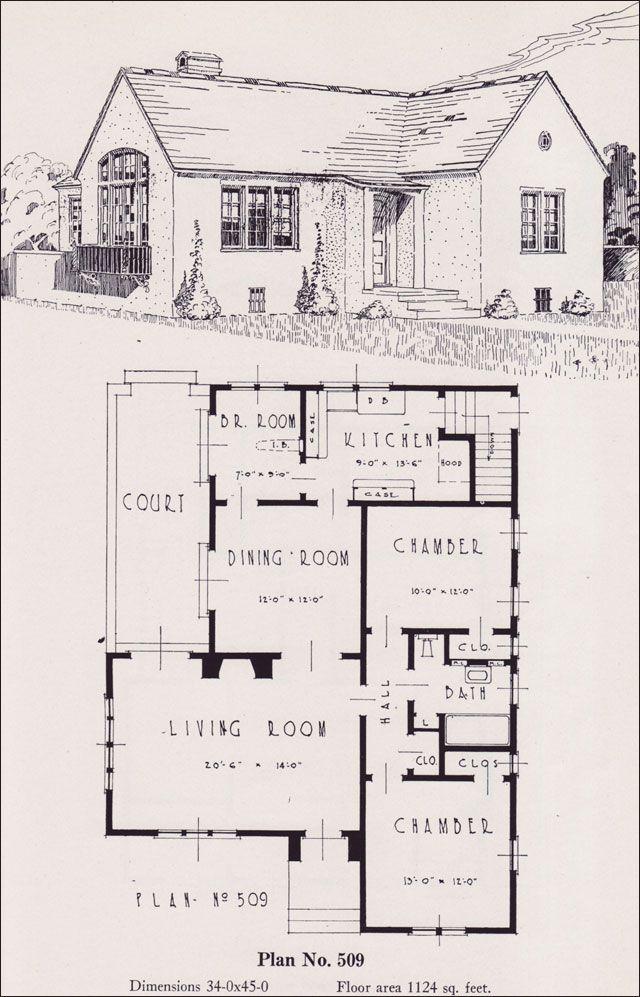 1926 portland home plan by universal plan service no for 509 plan