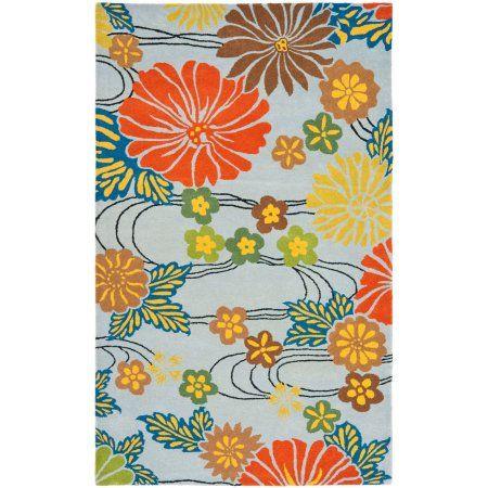 Safavieh Soho Hazel Wool Area Rug, Blue/Multi-Color, Multicolor