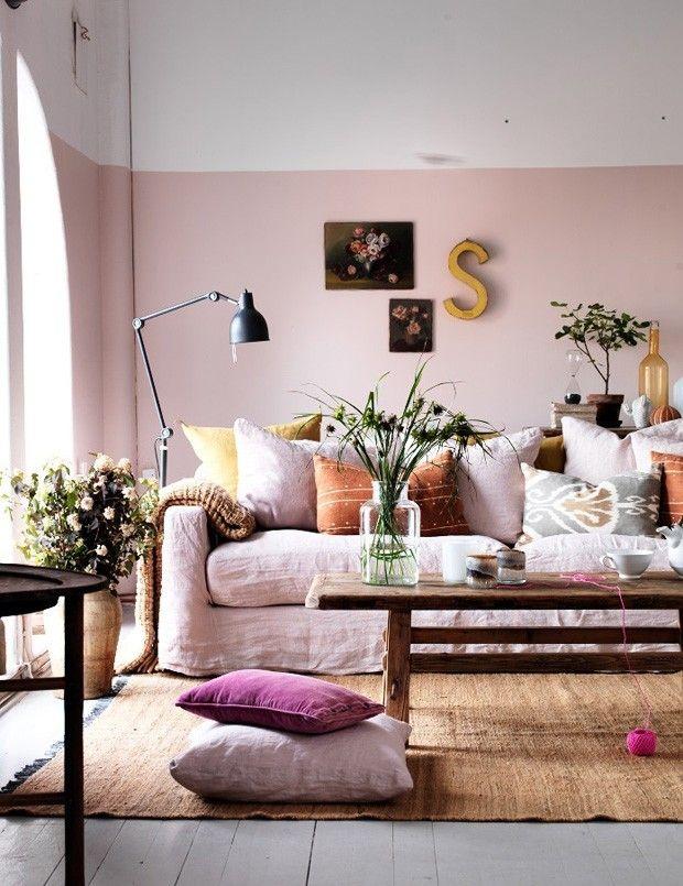 Paredes decoradas 13 ideias de pinturas criativas Living rooms