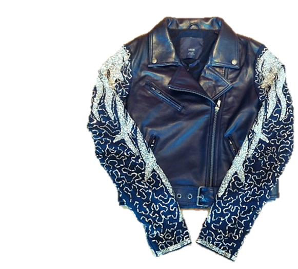 Beaded Leather Jacket