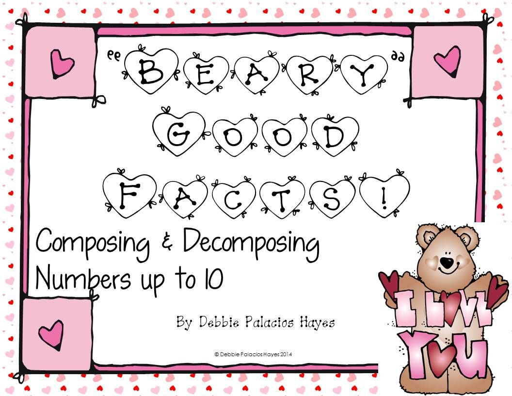 Decompose Numbers Beary Good Facts Combinations Up To