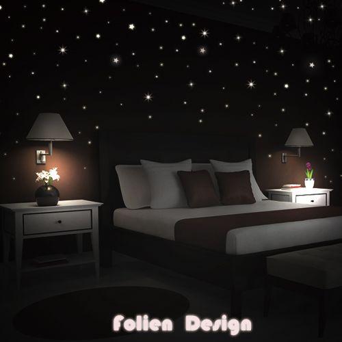 Wall Tattoo Kinderzimmr Glowing Stars After Glow Shining To 380 PIECE