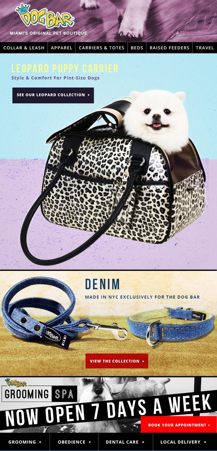 THE DOG BAR - LEOPARD COLLECTION