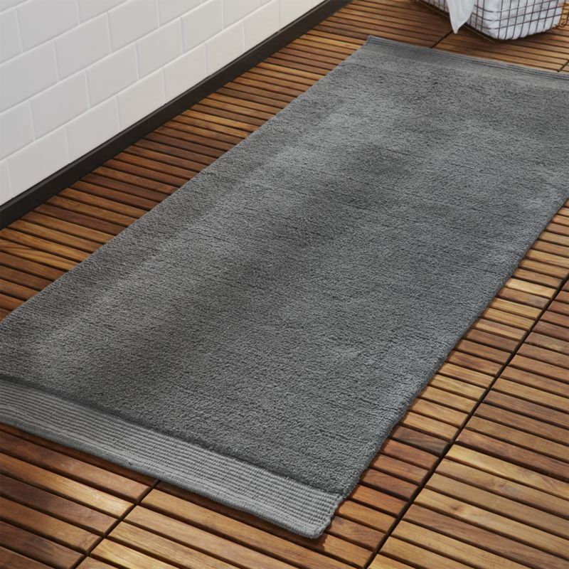 Shop Surface Dark Grey Bath Runner Lush Runner Lays It On Thick