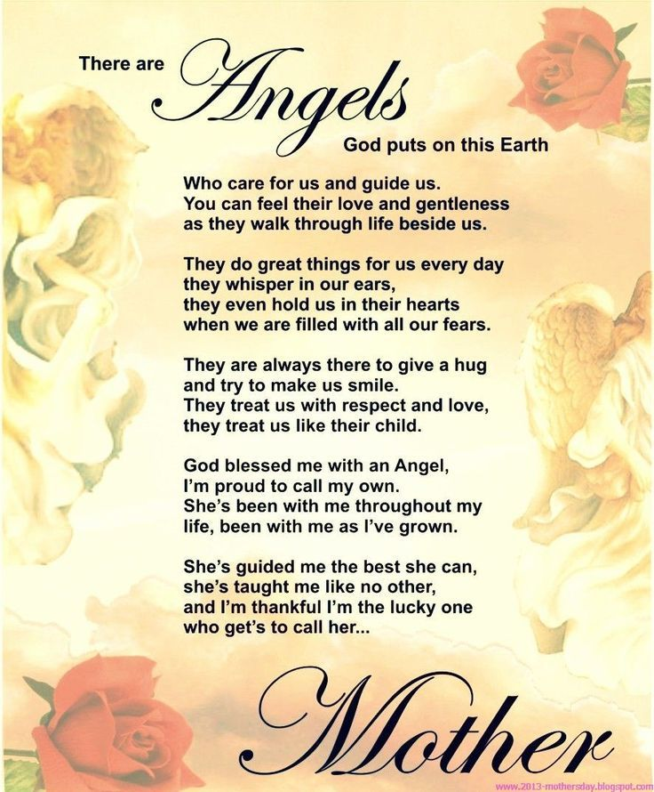 Happy Mother's Day in Heaven Poems Mothers day poems