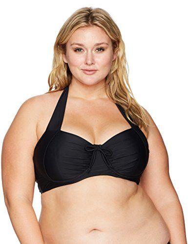 7d29cb7c76d76 Coastal Blue Women s Plus Size Swimwear Crossback Underwire Bikini ...