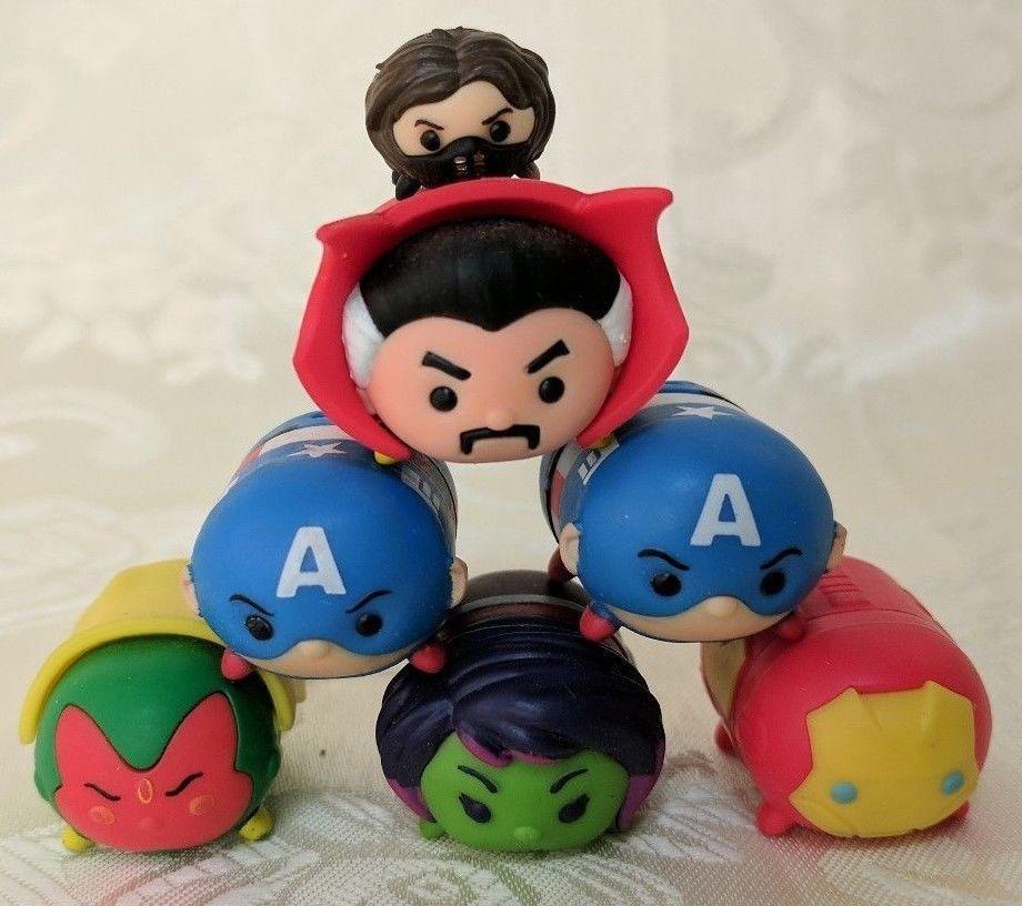 One Disney Marvel Tsum Tsum Vinyl Figure Iron Man Doctor Strange Captain America Jakkspacific Vinyl Figures Marvel Tsum Tsum Disney Marvel