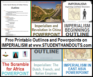 imperialism outlines and powerpoints for high school world history