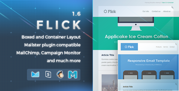 Flick  Responsive EMail Template  Template Campaign Monitor