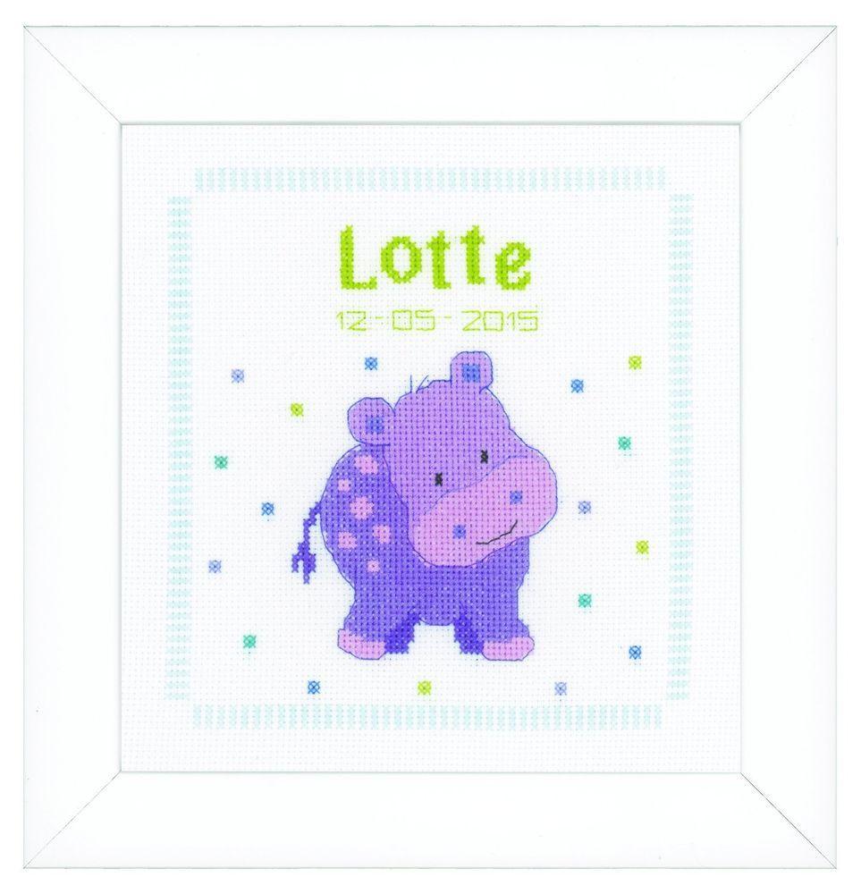 Vervaco Tiny Feet Birth Sampler Counted Cross Stitch Kit 18 Count Ecru Aida