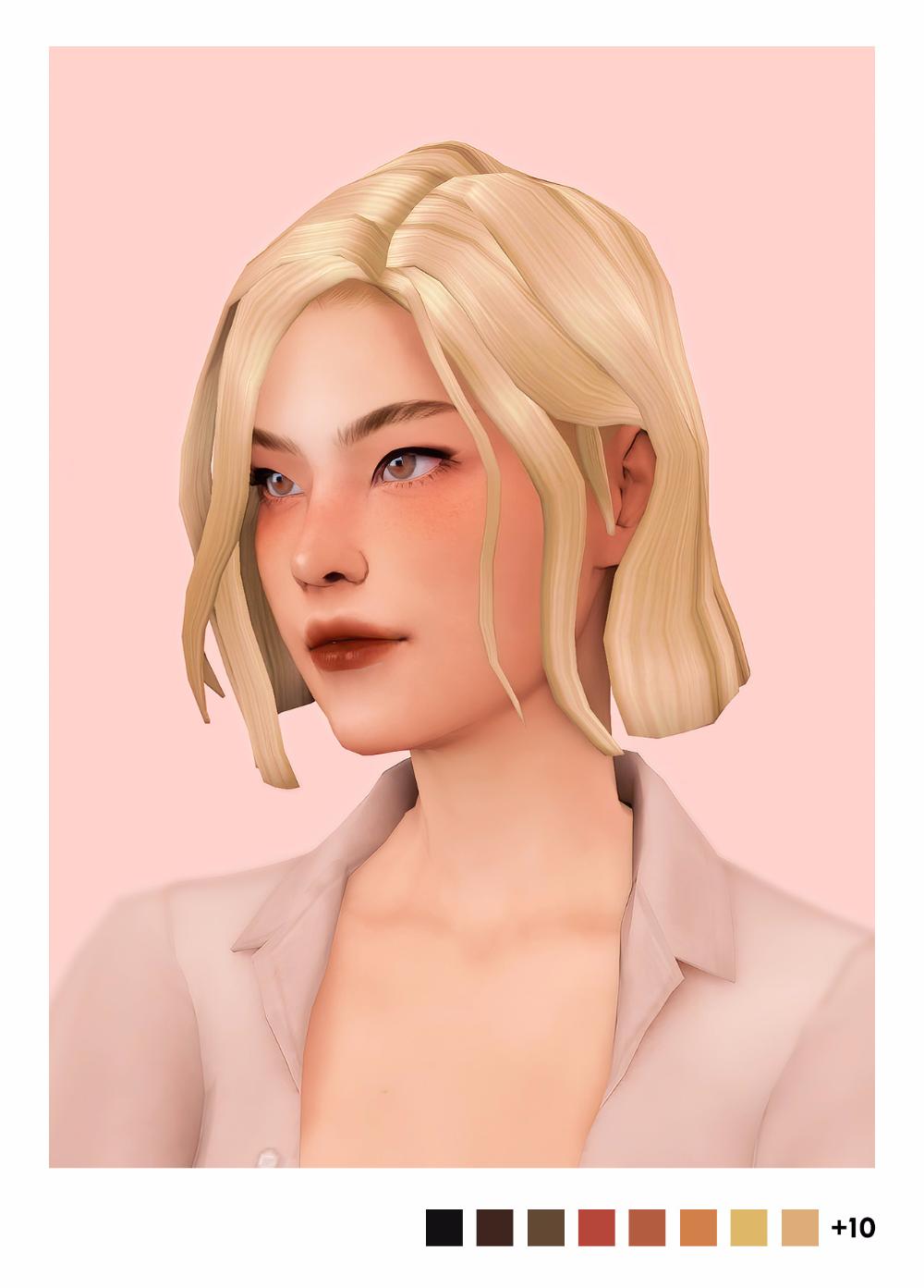Sulsulhun S Jade Hair The Sims 4 V 2020 G Zhenskie Pricheski Pricheski Sims 4