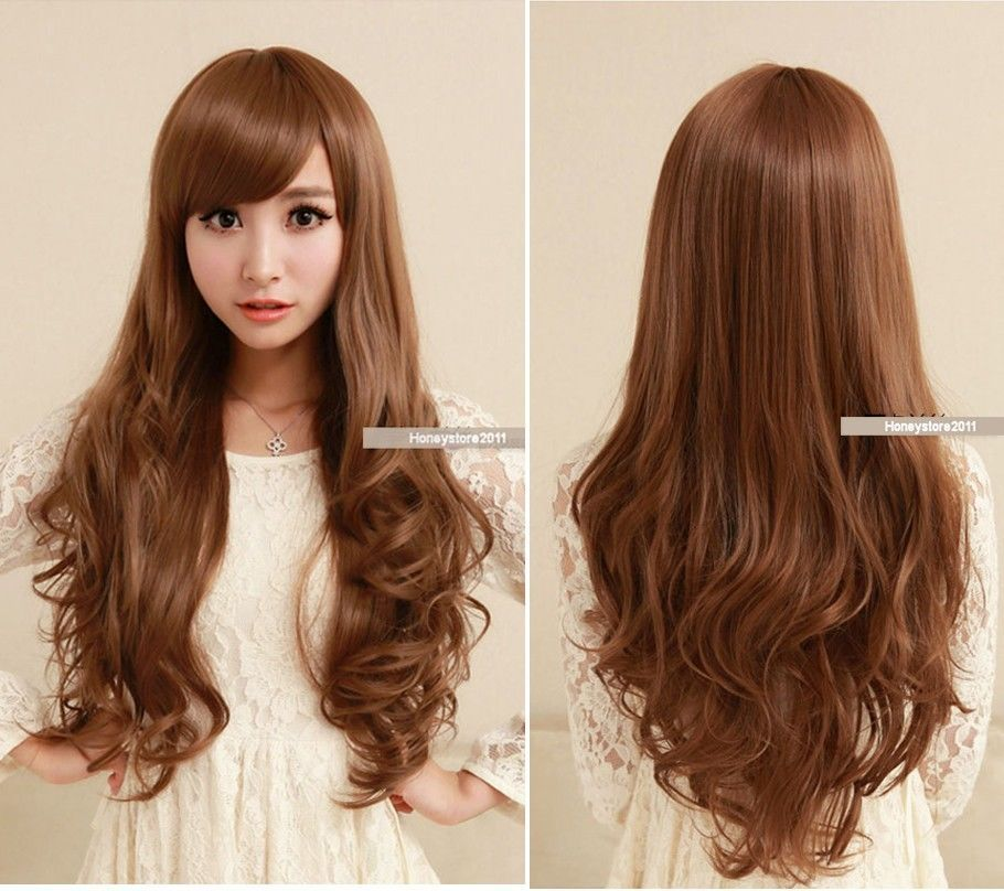 New Sexy Women's Girls Fashion Style Wavy Curly Long Hair Lady Full Wigs Colors