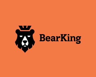 Logo combining a bear and a king chess piece. | Daughter Of The ...