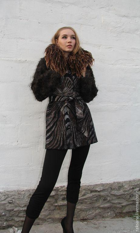 19569eadd5f Верхняя одежда ручной работы. Пальто демисезонное валяное. Регина Журавлева  Авторский войлок. Ярмарка Мастеров. Валяное пальто