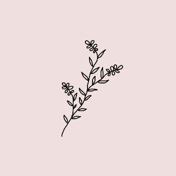 Pin by urara on aesthetic pinterest tattoo doodles for Flower line drawing tumblr