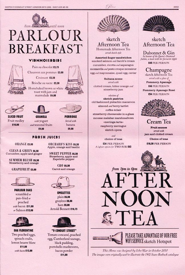 Funhouse Mirrors And Fine Dining Sketch London Menu