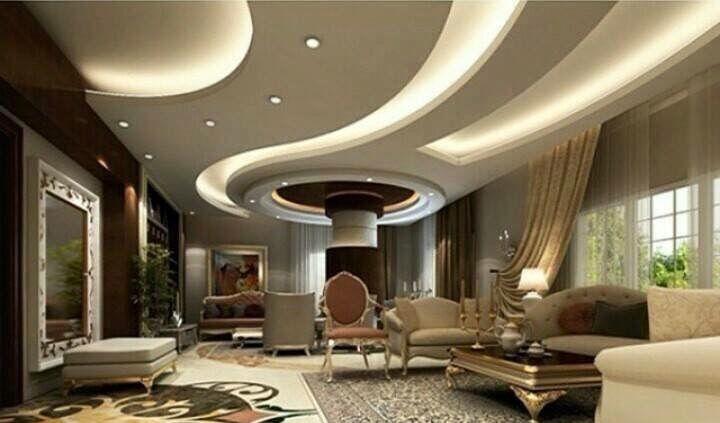 Gypsum Board False Ceiling Design Ideas For Living Rooms In Today S Article You Will See A Full Gy Idee Controsoffitto Soggiorno Controsoffitto Salotto Grigio