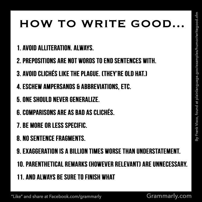 How to write a good paper