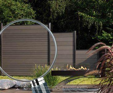 Amazon De Sichtschutzzaun Wpc System Set Anthrazit 178x183cm
