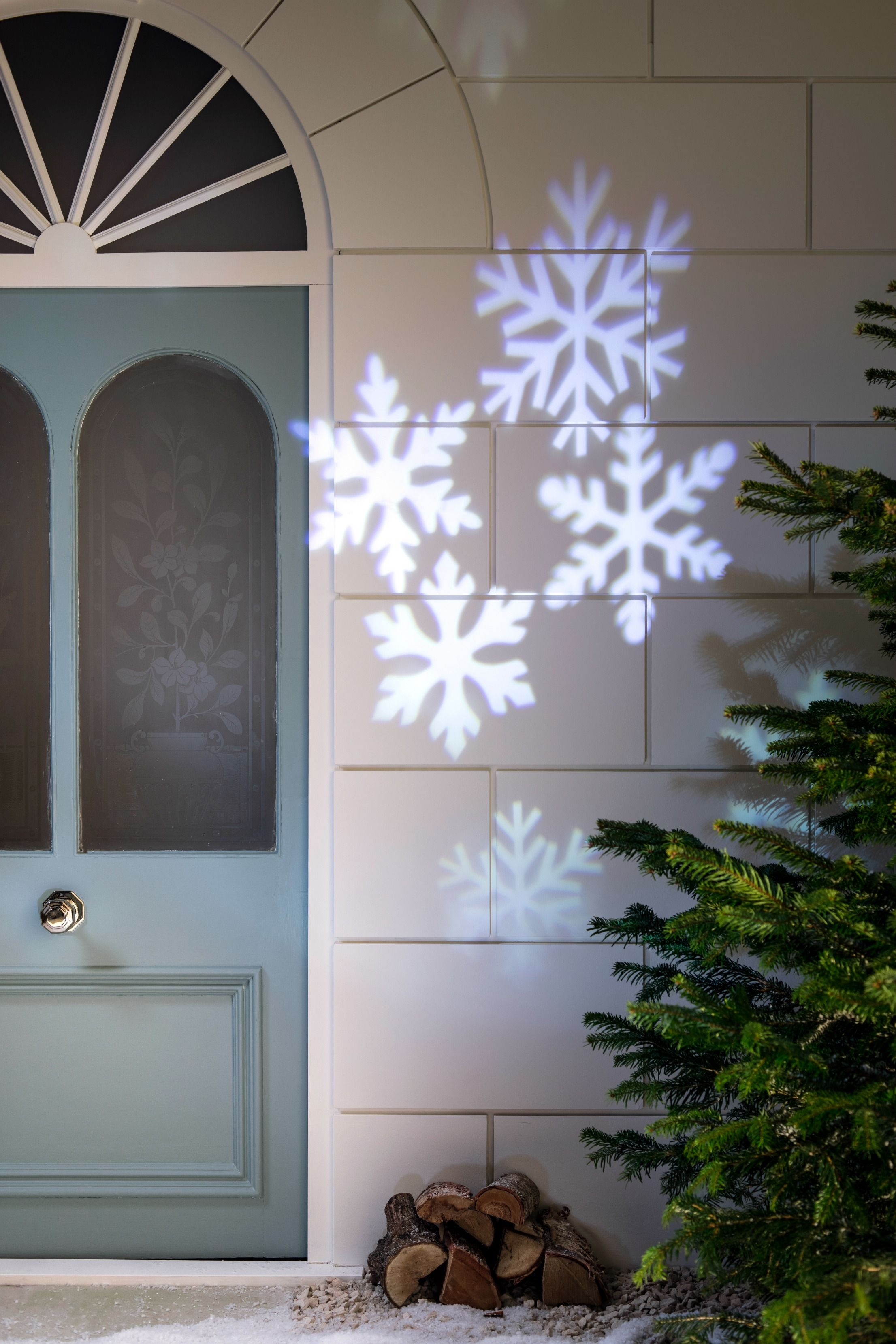 Have yourself a white Christmas with our snowflake projector light