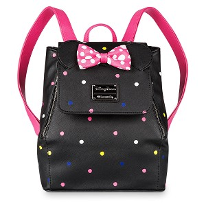 Disney Loungefly X Mini Backpack – Minnie Mouse Rock the Dots – Drawstring Foldover
