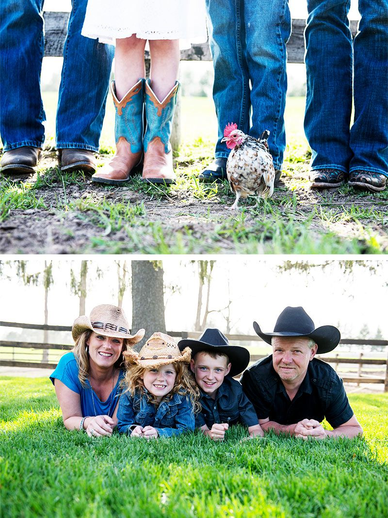 Rustic family photos loving the cowboy hats and cowboy boots whitney heard photography