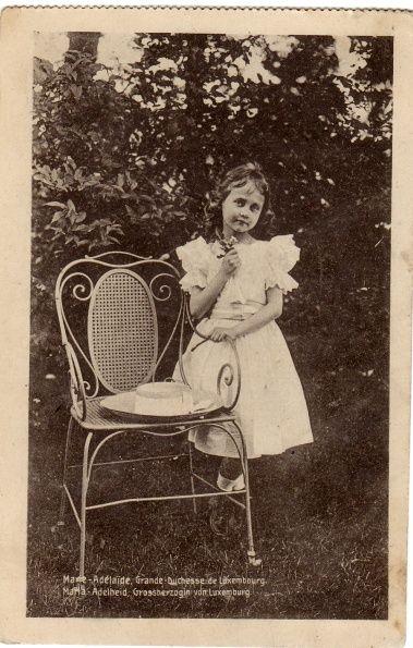 Princess Marie-Adelheid of Nassau-Weilburg, future Grand Duchess of Luxembourg.