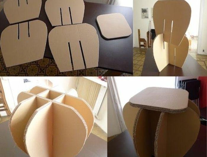 Tuto meuble en carton a fabriquer idee tres facile a - Meuble en carton tuto ...
