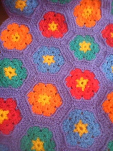 Colcha de crochet juvenil