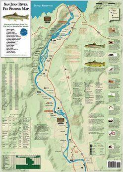 San Juan River Fly Fishing Map David Colvin 9780976825609 Amazon Com Books Fishing Maps Fly Fishing San Juan