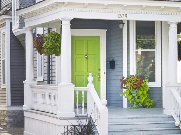 Green Front Door modern exterior design ideas | green front doors, front doors and