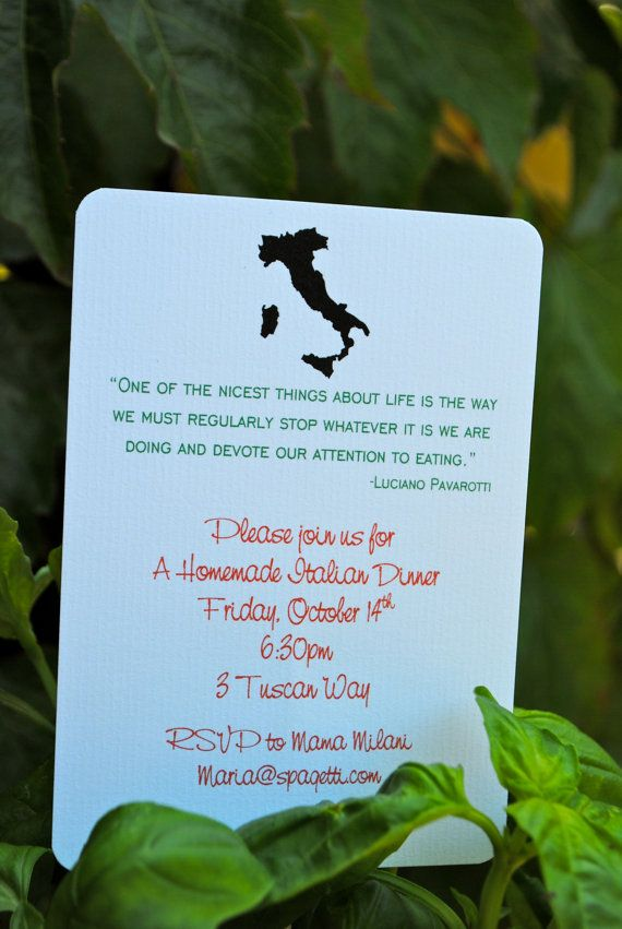 Italian Party Invitations by jacolynmurphy on Etsy, $15.00