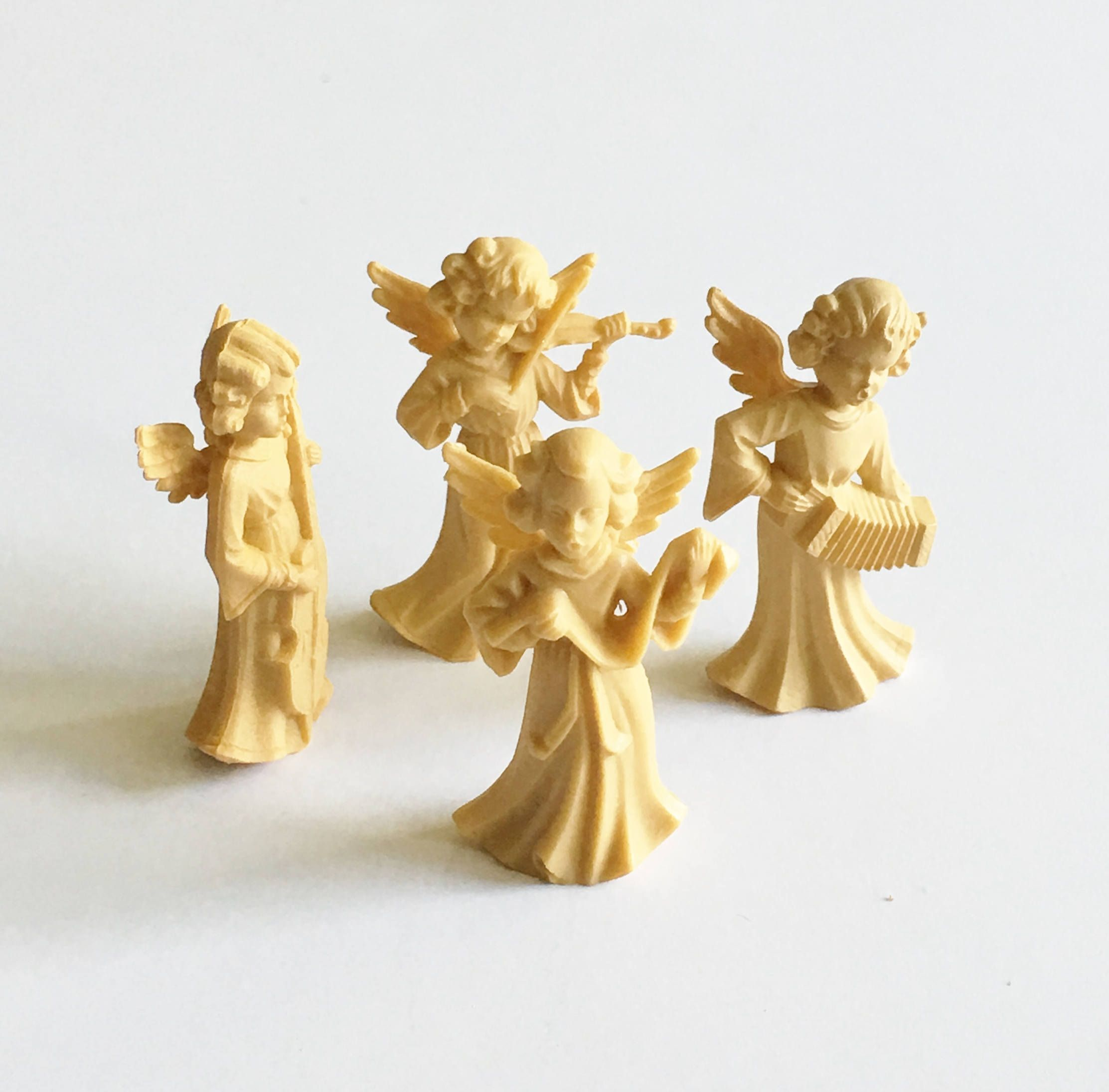 Vintage Angel Band Musical Figurines Plastic German Angels ...