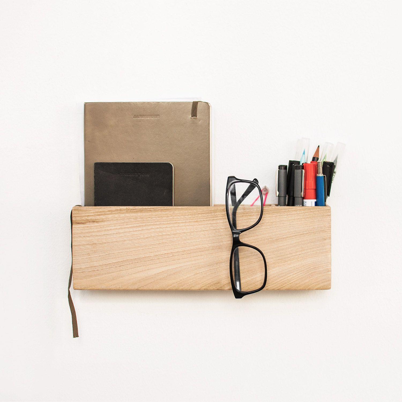 office hanging organizer. Wood Wall Organizer / Hanging Office Box Shelf Handmade
