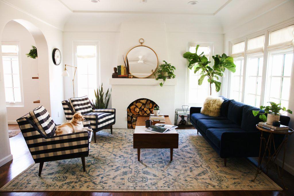 Blue Velvet Sofas With Creative Living Room Decor Ideas Velvet Living Room Living Room Reveal Living Room Inspiration #velvet #living #room #furniture