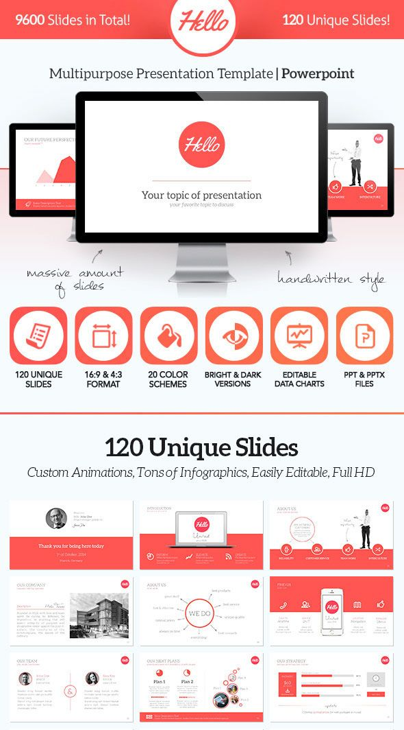 15 flat powerpoint presentation templates | powerpoint, Presentation templates