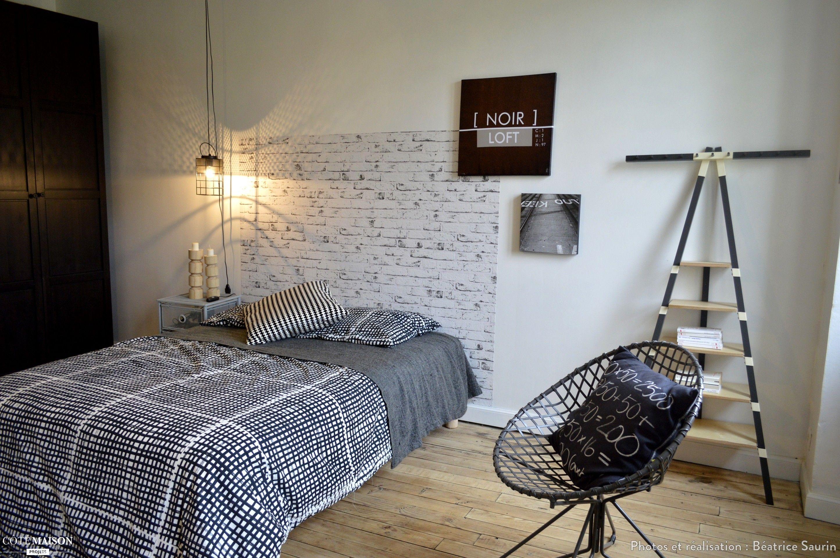 r novation et d coration d 39 une chambre d 39 adolescent b atrice saurin c t maison projets. Black Bedroom Furniture Sets. Home Design Ideas