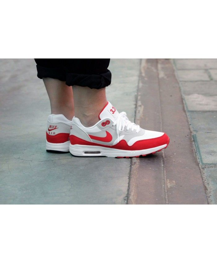 95ca88ccd9d7b Nike Air Max 1 Ultra 2.0 Le White University Red Womens Shoes