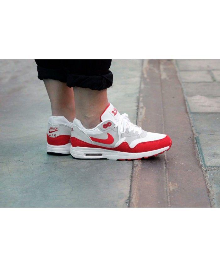 super cute 48a15 e87e9 Nike Air Max 1 Ultra 2.0 Le WhiteUniversity Red Womens Shoes
