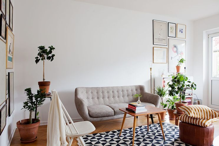 Departamento de 2 ambientes en estilo nórdico y vintage Estilo - salas vintage