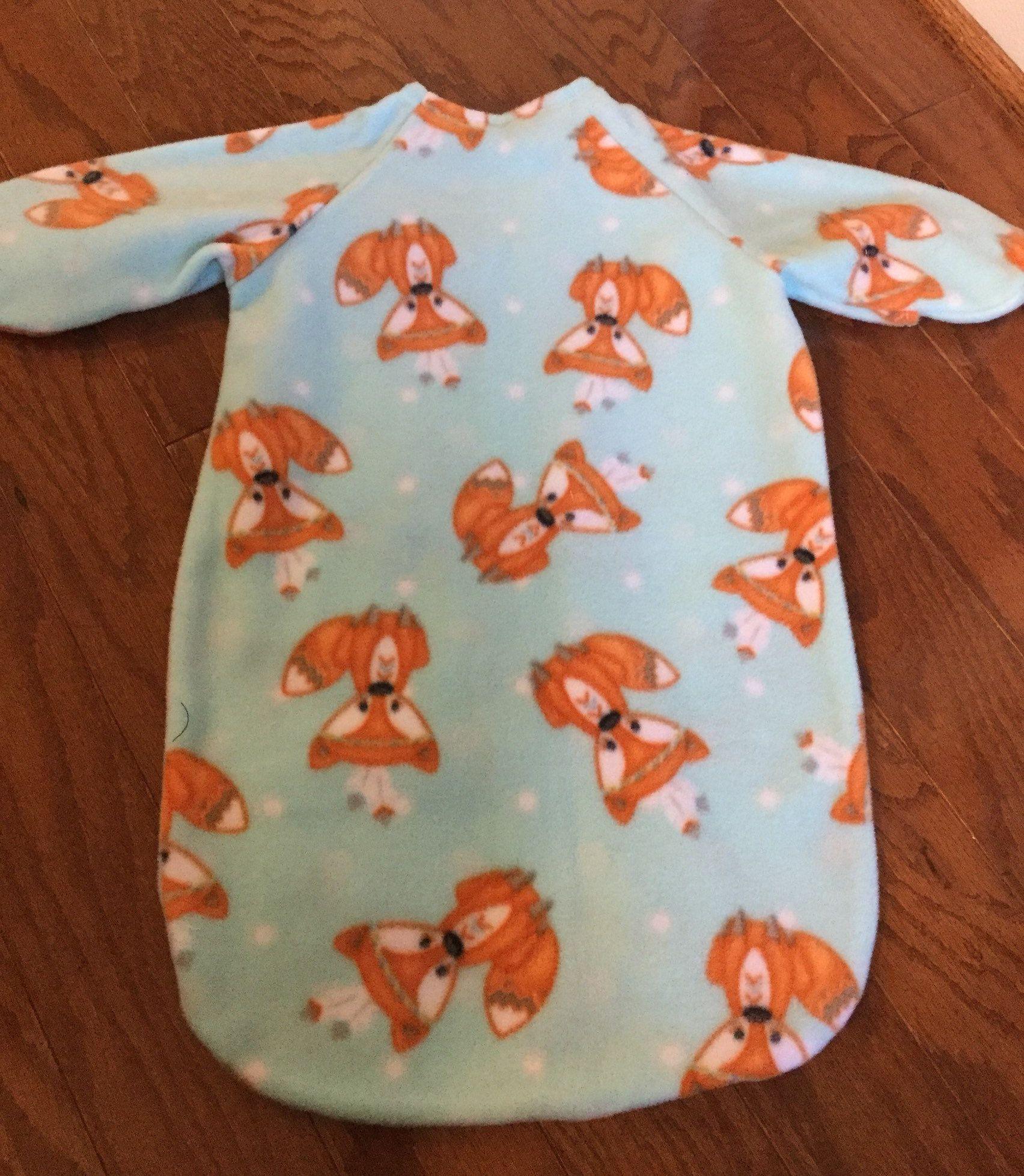 pretty nice 102bc 86326 Preemie Sleeper Sack, Preemie Fox Fleece Sleeper, Sleep Sack ...