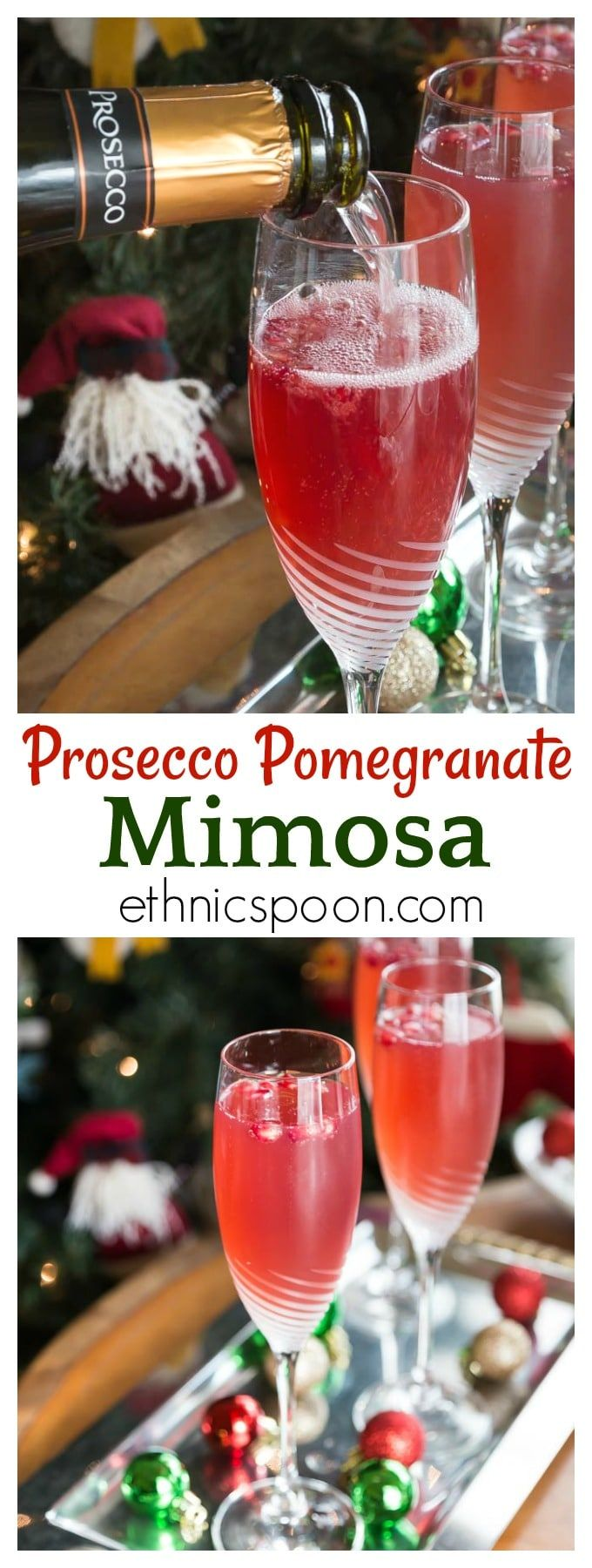 Prosecco Pomegranate Mimosa Recipe With Images Pomegranate Mimosa Brunch Cocktails Prosecco Cocktails