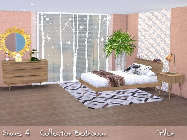 The Sims Resource: Collector Bedroom by Pilar • Sims 4 Downloads ...