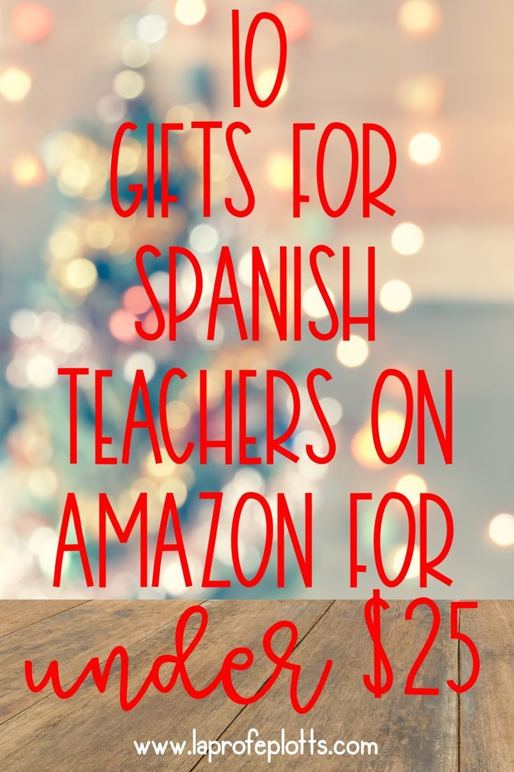 10 gift ideas for Spanish teachers that you can find on Amazon for under $25! Just in time for Christmas shopping! #spanish #spanishclass #teacher #teach #teachingspanish #gift #teacherappreciation #christmas  (@laprofeplotts) #spanishthings