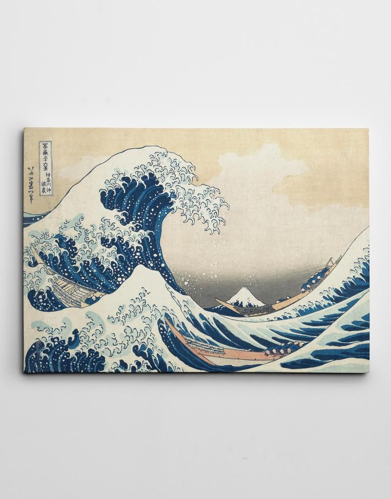 The Great Wave Off Kanagawa By Katsushika Hokusai Canvas By Ape Canvas C104 Canvas Wall Art Artwork Great Wave Off Kanagawa