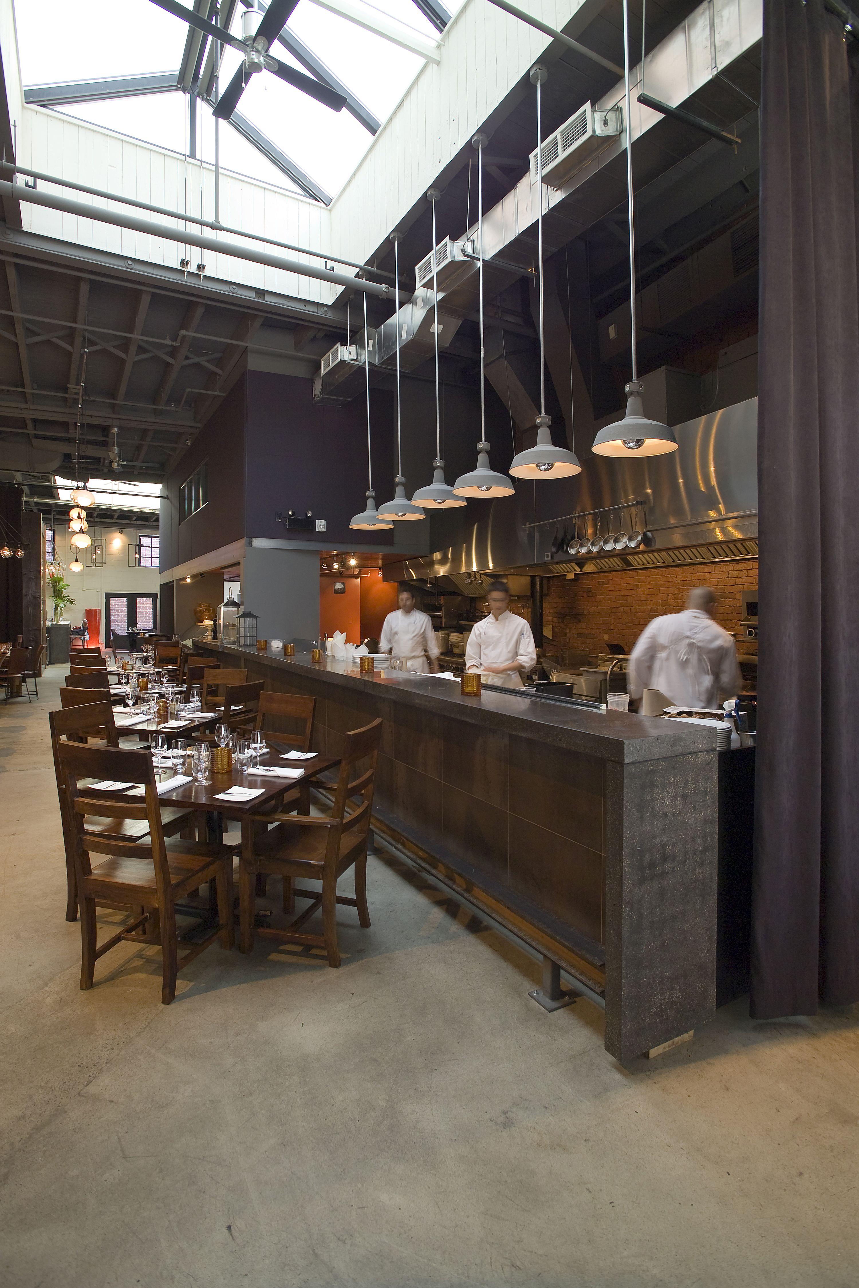 Restaurant Kitchen Design Corner Cabinet Ideas Lemaymichaud Le Local Architecture